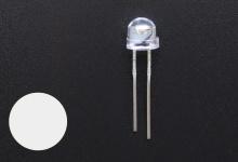 Светодиод белый 4.8 мм (2200-2400 mcd)