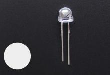 Светодиод белый 4.8 мм (2600-2800 mcd)