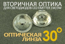 Светодиодная оптическая линза 30°