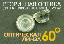 Светодиодная оптическая линза 60°