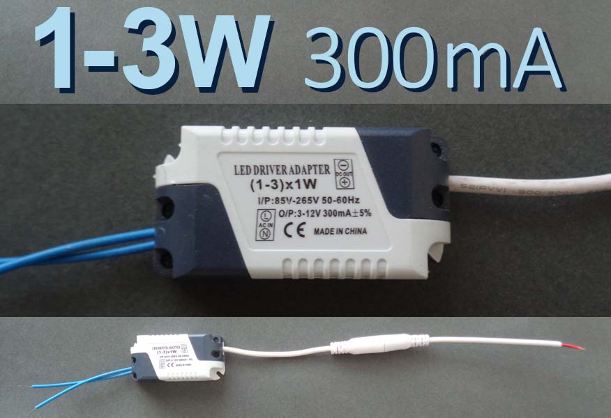 LED драйвер P(1-3) x 1W, 300mA