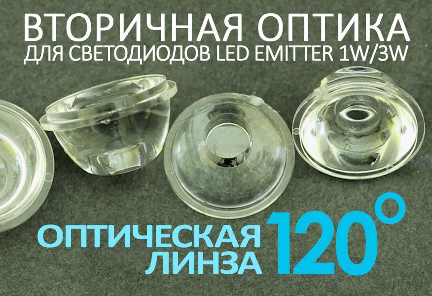 Светодиодная оптическая линза 120°