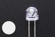 Светодиод белый 4.8 мм (2000-2200 mcd)