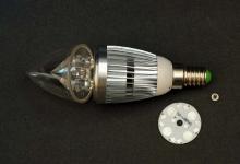 """Набор LED лампа """"свеча"""" 4W E14/Е27 (прозрачная)"""