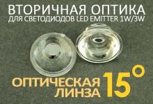 Светодиодная оптическая линза 15°