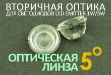 Светодиодная оптическая линза 5°