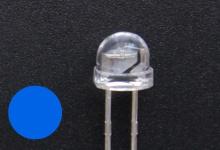 Светодиод синий 4.8 мм (750-1000 mcd)